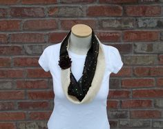 Two Tone Scarf Brown and Cream Spring Scarf Lightweight Scarf Sparkle Scarf Teen Fashion Scarves for Women Chocolate and Vanilla Scarf by foreverandrea on Etsy