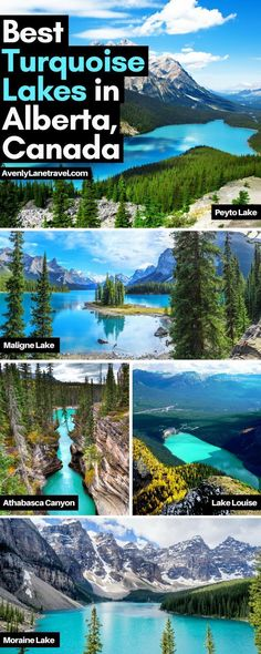 Incredible turquoise blue lakes in Alberta, Canada! Melting glaciers may create… Incredible turquoise blue lakes in Alberta, Canada! Moraine Lake, Lac Moraine, Lake Moraine Canada, Cool Places To Visit, Places To Travel, Travel Destinations, Places To Go, Travel Tips, Travel Goals