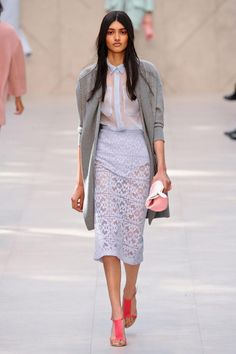 evidently translucent frump is back in town (did it ever leave?) Burberry Prorsum Spring 2014 RTW Collection