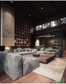 Elegance in a manly way these living rooms are – Modern Interior – einrichtungsideen wohnzimmer Modern Rustic Homes, Rustic Home Interiors, Modern Loft, Modern Farmhouse, Living Room Sofa, Living Room Furniture, Living Room Decor, Living Rooms, Rustic Furniture