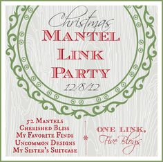 52 Mantels - Christmas mantel link party December 8th!