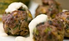 Unsure what quick, easy bites to make for your dinner party? This lamb meatball recipe is ideal as an appetizer or a main dish with rice. Greek Recipes, Meat Recipes, Cooking Recipes, Greece Food, Lamb Meatballs, Greek Cooking, Greek Dishes, Albondigas, Different Recipes