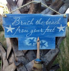 Brush the beach from your feet