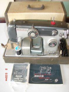 Vintage White Brand Zig Zag Sewing Machine Model 2837 Case Craft Home Sew Cloth | eBay