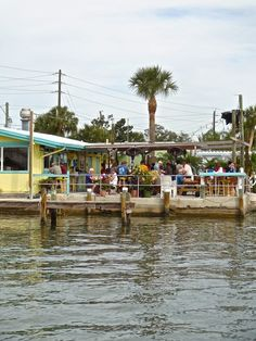 A local  restaurant hotspot right on the water in Cortez with good classic Florida food and drinks.