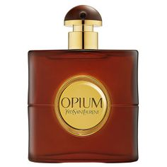 Opium symbolizes Yves Saint Laurent's fascination with the Orient and his unique understanding of a woman's hidden emotions and inexplicable passions. Opium arouses the senses with an exotic blend of lush florals, rich spices, and deep wood notes.  Notes: Tangerine, Plum, Cloves, Coriander, Carnation, Lily of the Valley, Rose, Myrrh, Opoponax, Castoreum, Cedarwood, Sand