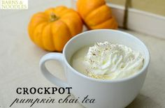 Crockpot Chai Tea: two of my favorite things combined into one drink. Must try asap.