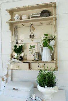 small vintage wall organizer
