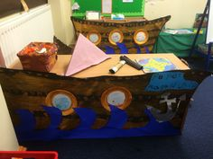 The ship to the pirate book corner