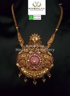 Antique Necklace, Antique Jewelry, Gold Necklace, American Diamond Jewellery, Diamond Jewelry, Jewellery Designs, Gold Jewellery, Indian Architecture, Gold Set