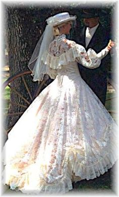 Wal-mart lace, a hoopskirt, a little hat - it's just WAITING for me to rag on it!