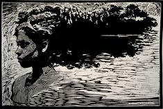 """Texture of Being - Joseph Taylor - """"Remembrance."""" 12 x 18 inches. Woodcut"""