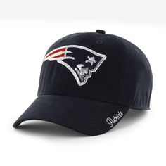 new arrival f304f a6114 New England Patriots Women s 47 Brand Sparkle Navy Clean Up Adjustable Hat  New England Patriots Apparel