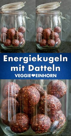 Healthy snacks: quick recipe for simple energy balls with dates. The energy balls are sugar-free with only 3 ingredients: dates, ground almonds and cocoa. It is a healthy snack for children and adults Healthy Food Recipes, Healthy Vegan Snacks, Healthy Snacks For Kids, Quick Recipes, Keto Recipes, Dinner Recipes, Dessert Recipes, Healthy Desserts, Kind Snacks