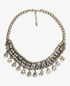 Teardrop Rhinestoned Necklace | FOREVER 21 - 1000046721