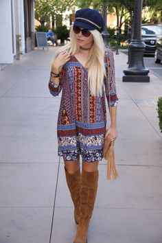 Calling all boho babes! $68 boots, $30 hat, $48 purse and $51 dress. Came by today! #shopalb #apricotlanets