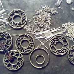 You might currently have a tool box for your jewelry making tools. However you'll need a bigger one as soon as you buy the extra tools you'll require for metalsmithing. Filigree Jewelry, Enamel Jewelry, Silver Filigree, Metal Jewelry, Silver Ring, Silver Earrings, Silver Work, Silver Jewellery, Jewelry Crafts
