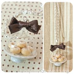 Cake stand necklace with donuts <3