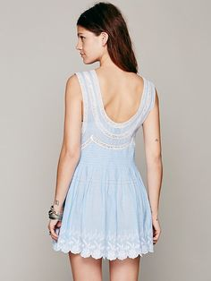 9b892e595df2 Free people Fp New Romantics Always Forever Tunic in Blue (Blue Sky) | Lyst