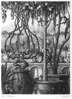Интересное и забытое - быт и курьезы прошлых эпох. - François Houtin.Воображаемые сады.Графика,сервиз и ресторан.