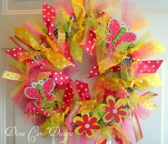 Butterfly Kisses  Wreath Room Decor by DanaCarolDesigns on Etsy, $48.00