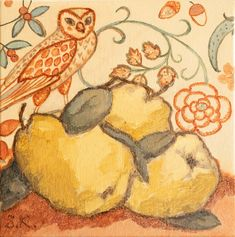Buy THREE QUINCE AND AN OWL, Oil painting by Svetlana Kurmaz on Artfinder. Discover thousands of other original paintings, prints, sculptures and photography from independent artists. William Morris Wallpaper, Morris Wallpapers, Oil Painting On Canvas, Canvas Art, Red Owl, Original Paintings, Original Art, Local Color, Color Tag
