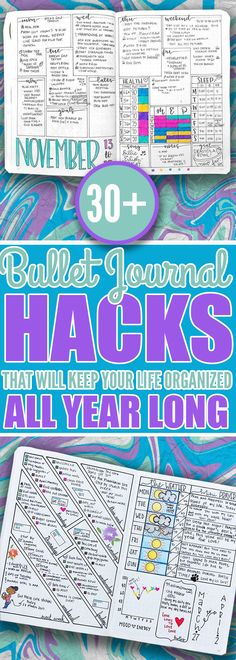 If you want to keep your life organized all year long, then you should really check out these tips and ideas for your bullet journal. I've found the best list of weekly logs, budget trackers, and more #bulletjournalideas to keep my life organized all year! With a bullet journal, I can plan and keep track of all the upcoming events in my weekly logs. Plus, there's a bunch of different bullet journal layouts in this post that will make your #bulletjournal easy to read and super organized.