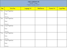 Lesson Plan Template from teach preschool