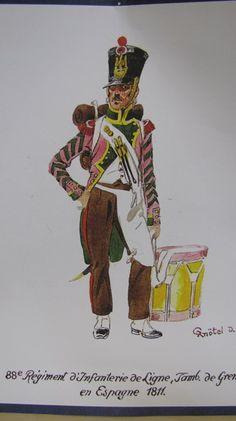 88° Régiment de Ligne, Tambour de Grenadiers, 1810