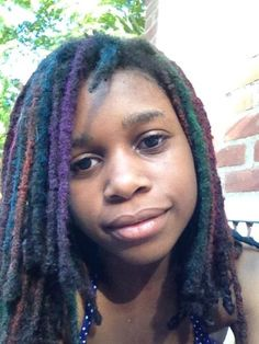 Isa Adina's multi-colored locs    Too cute for words...