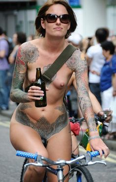 Another Naked Ride in the Streets with Beer in hand.