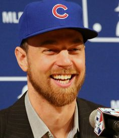 welcome to the cubs ben zobrist ! Chicago Cubs History, Chicago Cubs Fans, Chicago Cubs Baseball, Chicago Blackhawks, Cubs Players, Baseball Players, Cubs Pictures, Ben Zobrist, Root Root