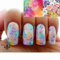 Moyou explorer 03 - Nails by Cassis: MoYou London nail art challenge entry - Flowers