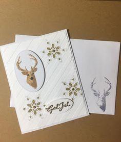 Mitt lille kortmakeri: Gave eske med 4 julekort m/konvolutter