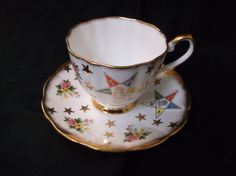 Royal Victoria Masonic Eastern Star Cup And Saucer by VelsVintage, $8.00
