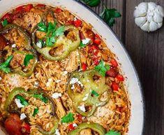 Κοτόπουλο με κριθαράκι στο φούρνο