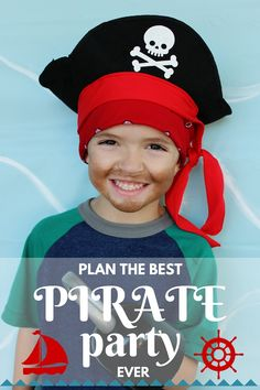 Want to plan the best pirate party ever? Here are the most fun ideas ever for making your party simple but INCREDIBLE! Pirate party food, pirate games, and even some free printables! Pirate Kids, Pirate Day, Pirate Birthday, Pirate Theme, Boy Birthday Parties, Birthday Ideas, 4th Birthday, Party Food Games, Pirate Party Games