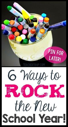 """Create a better """"back to school"""" with these 6 tips for launching an awesome new school year!"""