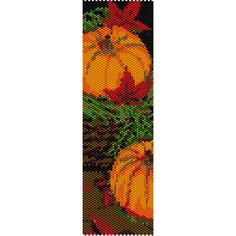 Autumn Peyote Bead Pattern, Bracelet Cuff, Bookmark, Seed Beading Pattern Miyuki Delica Size 11 Beads - PDF Instant Download by SmartArtsSupply on Etsy