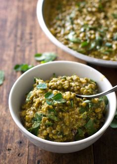 Monggo Beans with Malunggay (or Mung Bean Soup)