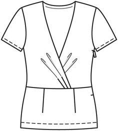 Пуловер - выкройка № 126 из журнала 12/2012 Burda – выкройки пуловеров на Burdastyle.ru