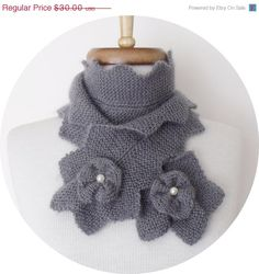BLACK FRIDAY SALE Grey Star Mohair ScarfReady for by knittingshop, $27.00