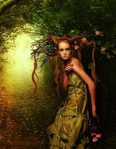 Rose of the woods ~photo manipulation by Elena Dudina