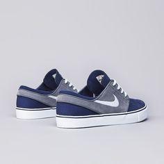 DOPE! Nike SB Stefan Janoski Midnight Navy / White - Cool Grey