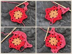 Tina's handicraft : oval square motif