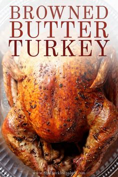 Prepare this Thanksgiving show-stopper! Browned Butter Sage Turkey is a twist on a classic roasted turkey. #ad #easyentertaining #speckledpalate Thanksgiving Appetizers, Thanksgiving Side Dishes, Thanksgiving Recipes, Fall Recipes, Dinner Recipes, Thanksgiving Sides, Side Recipes, Turkey Sandwiches, Roasted Turkey