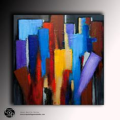 Moderne multicolor abstrakt Gemälde von ArtStudioPainting999