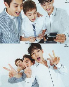Chanyeol, Xiumin & Chen being cute