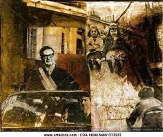 SALVADOR ALLENDE GOSSENS 1973 - COMPAÑERO PRESIDENTE Adolfo Vásquez Rocca - Artelista.com Painting, War, Contemporary Art, Figurative, Safety, Park, Military, Painting Art, Paintings
