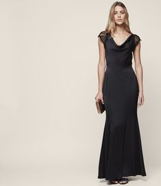 REISS - VITTORIA LACE-BACK MAXI EVENING GOWN  f55dc0ea3
